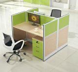 Estação de trabalho reta da pessoa da mobília de escritório 4 do certificado (HX-NCD311)
