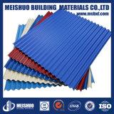 Strato ondulato colorato del tetto del metallo ricoperto zinco