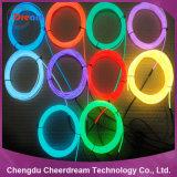 La luz de la cuerda de neón el cable con 10 colores