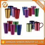 ألومنيوم فنجان مع علامة تجاريّة طباعة, صنع وفقا لطلب الزّبون ليزر علامة تجاريّة
