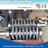 Máquina Shredding dos PP do PE, Shredder hidráulico do empurrador para a película/saco/pneu/pneumático/protuberância/tubulação/tambor/cubeta