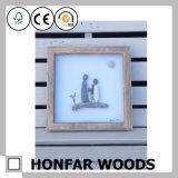 Het rustieke Stevige Houten Frame van de Foto van het Beeld voor de Decoratie van het Huis