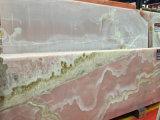 ピンクのオニックスの装飾の壁および床のための紫色のヒスイのオニックス大理石
