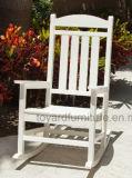 Cadeira de balancim presidencial de madeira Polywood protegida UV tropical relaxante