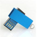 Memoria Flash impermeable del mecanismo impulsor 3.0 de la pluma del USB 16GB del mini eslabón giratorio