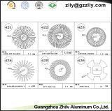 Il quadrato modella i dissipatori di calore di alluminio del girasole del materiale da costruzione