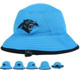 Chapéu quente da cubeta do algodão do preto do verão da garganta da parte superior da venda com logotipo da correção de programa do bordado