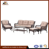 Mobilia di vimini del sofà del giardino di svago del rattan esterno di promozioni 6PCS