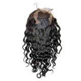 Perruques malaisiennes de lacet d'avant de cheveu de Vierge (onde 16Inch-Deep)