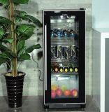 Enfriador de vino puerta de cristal con un calentador eléctrico