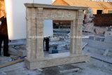 高品質の手によって切り分けられる旧式なTravertineの石の大理石の暖炉(SY-MF376)