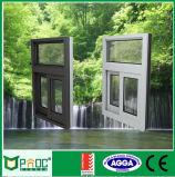 Finestra di scivolamento commerciale di alluminio rivestita della polvere con il prezzo poco costoso