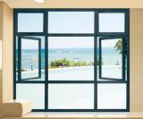 Perfil de aluminio salto térmico personalizado Casement Ventana con pantalla retráctil (ACW-027)
