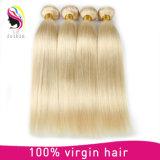 Extensión rubia recta mongol del pelo de la Virgen del pelo humano del 100%