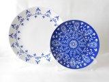 Servicio de mesa azul y blanco del hotel de la estrella del modelo de China Medio Oriente