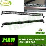 240W 44.5inchはクリー語LEDsが付いている列LEDのライトバーを選抜する