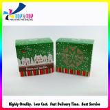 Impresión de diseño lindo regalo de Navidad Caja de papel de embalaje hecho a mano
