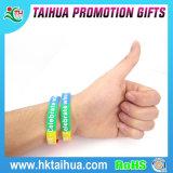 Meilleur bracelet en silicone à fluorescence double couleur populaire