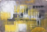 Home Decor를 위한 다기능 Yellow Abstract Decorative Oil Paintings