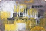 De multifunctionele Gele Abstracte Olieverfschilderijen van het Landschap voor het Decor van het Huis