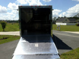 Conception carrée camion alimentaire fast food de poulet frit remorque