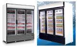 セリウム、CBが付いている三重のドアの表示クーラーの高品質の商業冷却装置