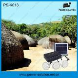 Mini système solaire à la maison de DEL avec le chargeur de panneau solaire de 11V 4W et de téléphone d'USB (PS-K013)