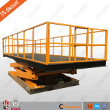 Cargo de type ciseaux fixe avec alimentation CA de la table élévatrice plateforme de levage