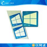 Escritura de la etiqueta de papel C ultraligera ISO14443A de la etiqueta Ntag215 del Hf de RFID NFC