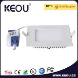 3-24W Ce RoHS aprobado Ultra Lámpara de techo Panel LED delgado
