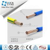Fio isolado PVC de cobre do cabo elétrico do condutor H07V-R