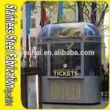 Cabina de boleto al aire libre portable del acero inoxidable