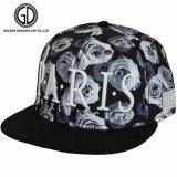 Plano de la moda Brim Snapback Caps con bordado en 3D & Rose patrón