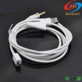 Usine de voiture d'alimentation micro USB pour la prise jack 3,5 mm Câble audio auxiliaire