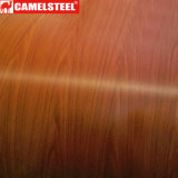 Il disegno di legno ha preverniciato la bobina d'acciaio per il rivestimento della parete del soffitto