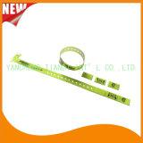 Entretenimento do vinil 3 faixas plásticas do bracelete da identificação dos Wristbands da aba (E6070-3-17)