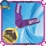 マラソンメダルのためのプリントリボンが付いているカスタマイズされた3Dメダル