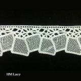 수공예 L004를 위한 고귀한 꽃 화학 폴리에스테 작은 구멍 레이스 손질 자수 디자인