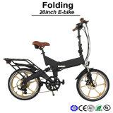 20 Zoll-Minifalz-elektrisches Fahrrad/verstecktes Fahrrad der Batterie-E