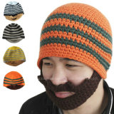 Classic Design All Custom Hand Crochet Knitted Beard Beanie
