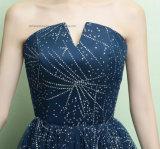 Liebe mag die Dame-Frauen-Spitze, die reizvolles Backless Abend-Partei-Abschlussball-Kleid bördelt