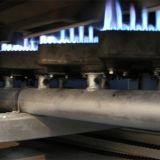 Cadena de producción de la galleta de la oblea/oblea que hace el horno de la hornada del gas de la máquina