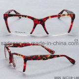 De forma personalizada metade Rim Acetato Óculos estruturas ópticas