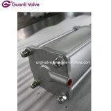 Válvula de porta Uni direcional Ggg40/CF8m/CF8 da faca Wafer&Lug