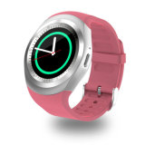 Y1 Slim Horloge om Wrisbrand de Androïde Telefoon Smartwatch van de Kaart van het Gebruik 2g SIM Intelligente Mobiele