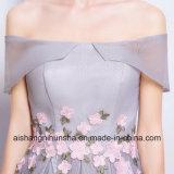 Nueva moda de cuello de barco Ombre vestido de Prom.