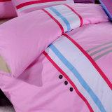 Lecho BRITÁNICO 100% de la cubierta del Duvet del color de rosa del remiendo del estilo del algodón