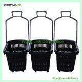 4 Roues en plastique de laminage de Shopping Panier avec 45L Volume