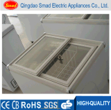Congelador do gelado do congelador da caixa da porta de vidro de deslizamento mini (XS-100)