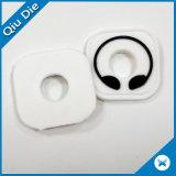 Corrección de goma del PVC de la ropa cuero con estilo de la marca de fábrica del pequeño para la ropa
